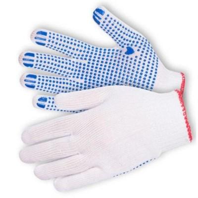 Перчатки х/б с ПВХ белые 10 кл. - фото 4830
