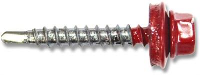 Саморез кровельный RAL-3003 (светло-красный) ZP 4,8х28 - фото 4888