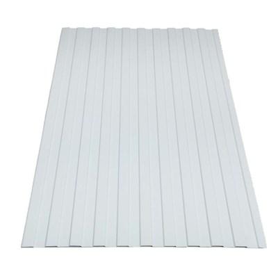 Профнастил окрашенный С8 белый 1,2 х 2м (0,45мм) - фото 5050
