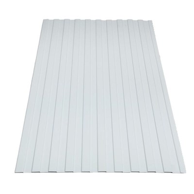 Профнастил окрашенный С8 белый 1,2 х 6м (0,45мм) - фото 5052