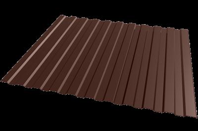 Профнастил окрашенный С8 шоколад 1,2 х 2м (0,45 мм) - фото 5056