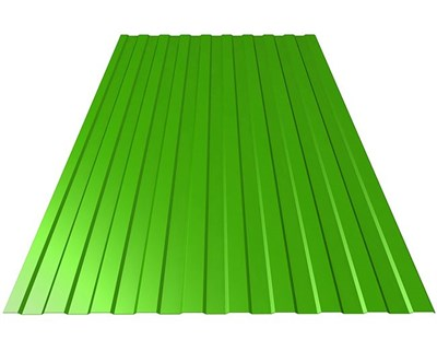 Профнастил окрашенный С8 зеленая мята 1,2 х 3м (0,45мм) - фото 5075