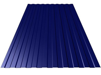 Профнастил окрашенный С8 тёмно-синий 1,2 х 3м (0,45мм) - фото 5084