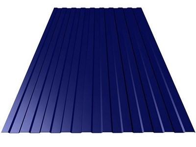 Профнастил окрашенный С8 тёмно-синий 1,2 х 6м (0,45мм) - фото 5085