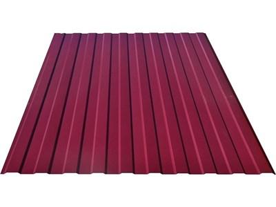 Профнастил окрашенный С8 красное вино 1,2 х 3м (0,45мм) - фото 5091