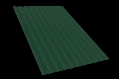 Профнастил окрашенный С8 зелёный мох 1,2 х 3м (0,45мм) - фото 5097