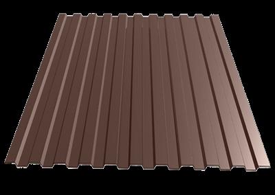 Профнастил окрашенный С21  шоколад  1,055 х 2м (0,45мм) - фото 5131