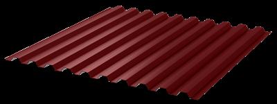 Профнастил окрашенный С21  красное вино  1,055 х 2м (0,45мм) - фото 5151