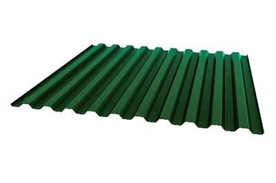 Профнастил окрашенный С21    зеленый мох  1,055 х 2м (0,45мм) - фото 5152