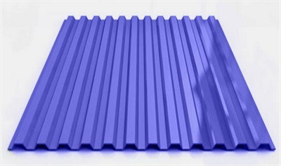 Профнастил окрашенный С21  светло-синий 1,055 х 2м (0,45мм) - фото 5181