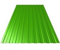 Профнастил оцинкованный С10 зеленая мята 1150 х 6000 мм (0,45) - фото 5198