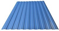 Профнастил оцинкованный С10 светло-синий 1150 х 3000 мм (0,45) - фото 5214