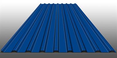 Профнастил оцинкованный НС20 (0,45) 1150 х 6000 мм Темно-синий - фото 5338