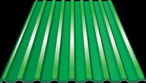 Профнастил оцинкованный НС20 (0,45) 1150 х 2000 мм Зелёная мята - фото 5349