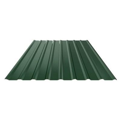 Профнастил оцинкованный НС20 (0,45) 1150 х 6000 мм зеленый мох - фото 5354