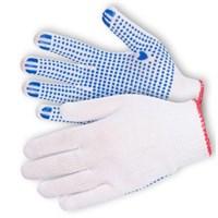 Перчатки х/б с ПВХ белые 10 кл.