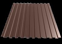 Профнастил окрашенный С21  шоколад  1,055 х 2м (0,45мм)