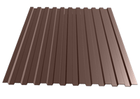 Профнастил окрашенный С21    шоколад  1,055 х 3м (0,45мм)