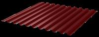 Профнастил окрашенный С21  красное вино  1,055 х 2м (0,45мм)