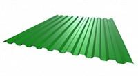 Профнастил окрашенный С21    зеленая мята  1,055 х 3м (0,45мм)