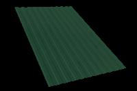Профнастил оцинкованный С10 зелёный мох 1150 х 3000 мм (0,45)