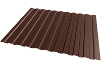 Профнастил оцинкованный С10 шоколад 1150 х 3000 мм (0,45)