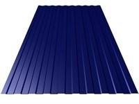 Профнастил оцинкованный С10 темно-синий 1150 х 3000 мм (0,45)