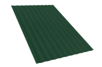 Профнастил оцинкованный С10 зелёный мох 1150 х 2000 мм (0,45)
