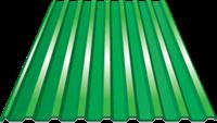 Профнастил оцинкованный НС20 (0,45) 1150 х 6000 мм - зелёная мята